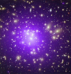 272982main_a1689_full A massive cluster of galaxies located about 2.3 billion light years away
